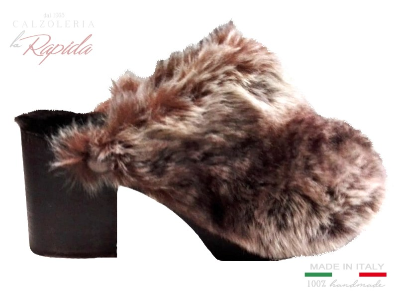 ► Zoccoli donna invernali con pelo marrone | Winter Clogs 2019 | LA RAPIDA