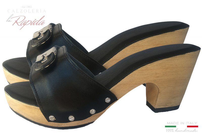 Zoccoli Donna Fascia Regolabile School Clogs Estate