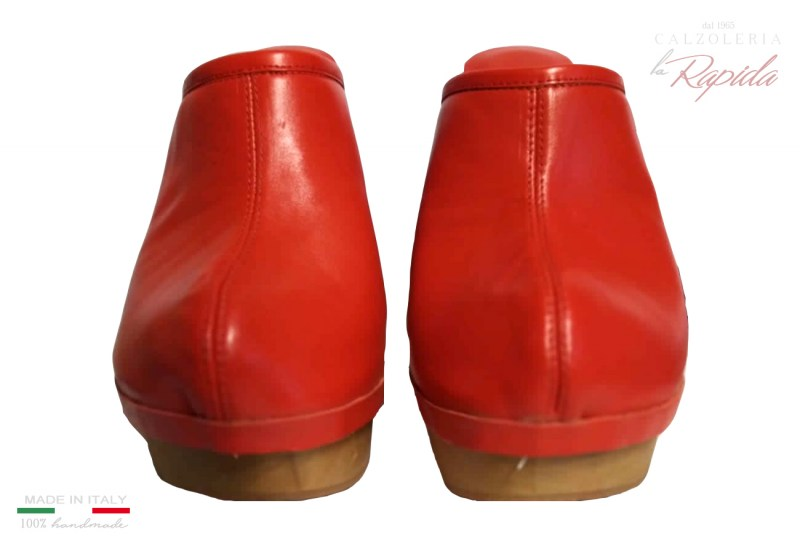 Red Mules Shoes Clogs Woman