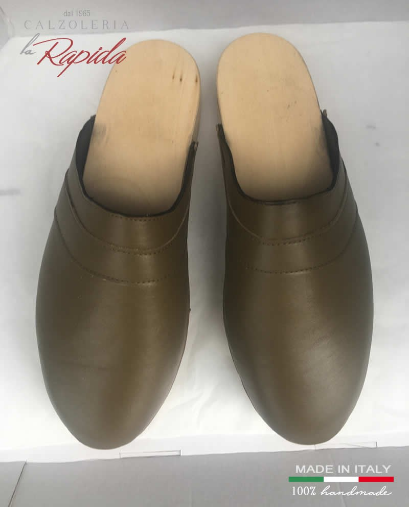 Zoccoli Uomo in Pelle Mules Clogs Men and Woman Made in Italy