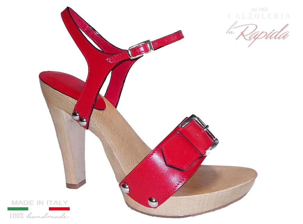 Sandali donna rossi con tacco 12 | LA RAPIDA